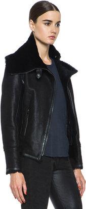 Isabel Marant Backal Chic Lambskin Shepard Coat in Black