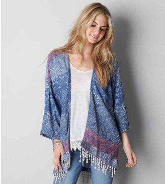 American Eagle AEO Printed Kimono