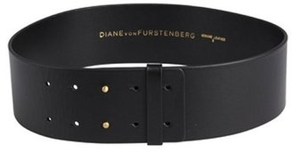 Diane von Furstenberg black leather 'Jill' wide belt