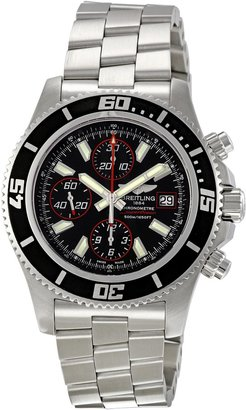 Breitling Men's A1334102/BA81SS Superocean Chronograph II Black Dial Watch