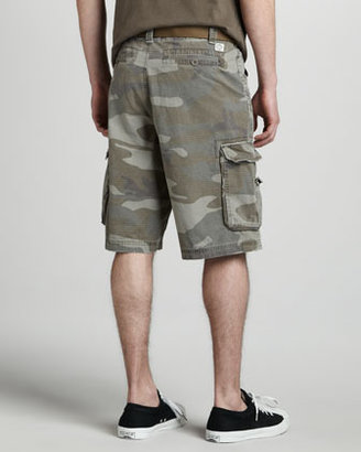 Camo WRK Ripstop Belted Cargo Shorts,