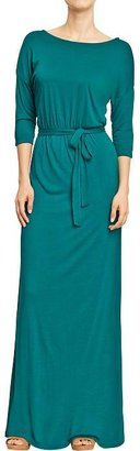 Old Navy Women's Belted Jersey Maxi Dresses
