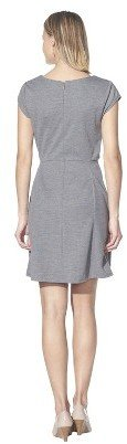 Merona Women's Textured Cap Sleeve Fit and Flare Dress - Solid Colors
