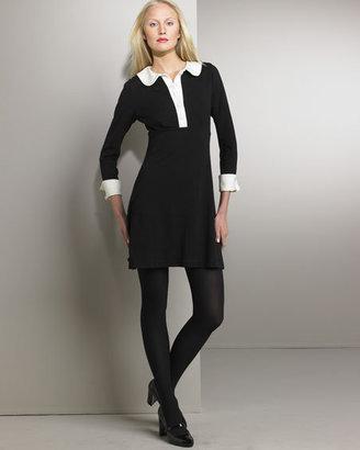 Diane von Furstenberg Contrast-Trim Dress