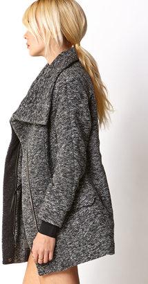 Forever 21 Marled Oversized Collar Coat
