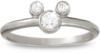 Disney Mickey Mouse Diamond Ring Platinum