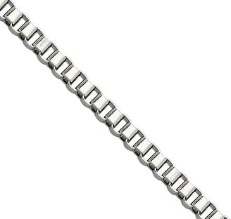 """Steel by Design 22"""" Box Link Necklace"""