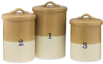 Williams-Sonoma Dipped Glaze Canisters, Set of 3