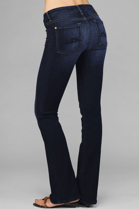 7 For All Mankind Kimmie Curvy Bootcut In Dark Rich Blue