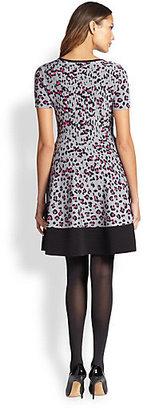 Kate Spade Cyber Cheetah-Print Sweaterdress