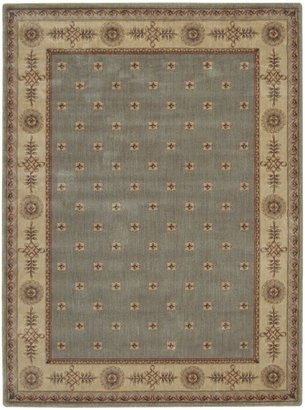 Nourison Somerset ST55 Rectangle Rug, Green, 2.0'x5.9'