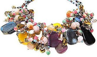 JCPenney Pannee Multi-Stone Statement Necklace