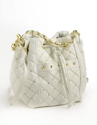 PARADOX Leather Quilted Bucket Bag