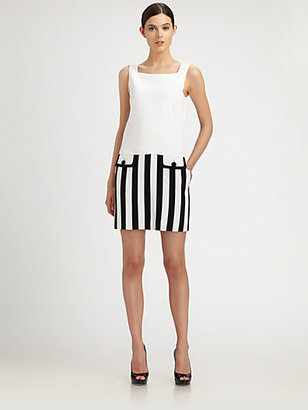 Moschino Striped-Skirt Dress