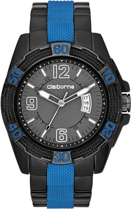 Claiborne Mens Blue & Gunmetal Sport Watch