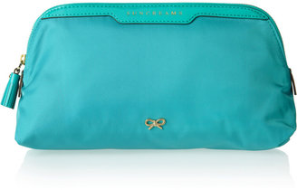 Anya Hindmarch Suncreams patent leather-trimmed vanity case