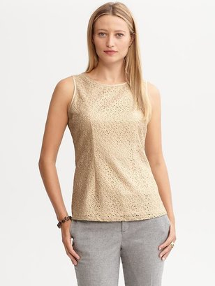 Banana Republic Exposed zip lace tank