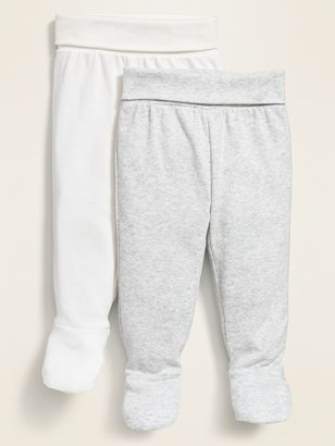 Old Navy Fold-Over Waist Footed Knit Pants 2-Pack for Baby