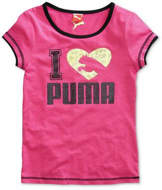 Puma Kidls Shirt, Girls I Heart Graphic Tee