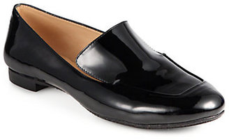 Robert Clergerie Adita Patent Leather Smoking Slippers
