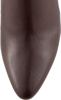 Jimmy Choo Brody Leather Ankle Bootie, Brown
