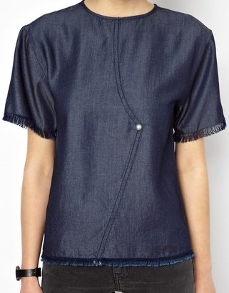 Ann Sofie Back BACK By Ann-Sofie Back Denim T-Shirt
