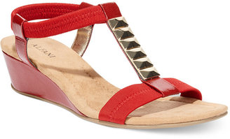 Alfani Women's Safaree T-Strap Stretch Sandals