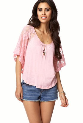 Forever 21 Lace Sleeves Top