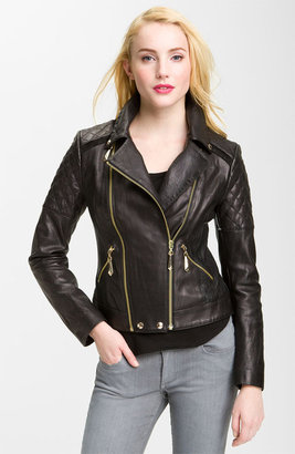 Sam Edelman Quilted Leather Moto Jacket