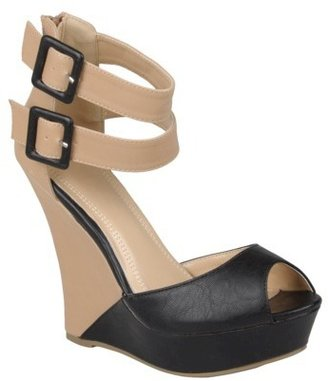 Hailey Jeans Co. Women's Open Toe Ankle Strap Wedges