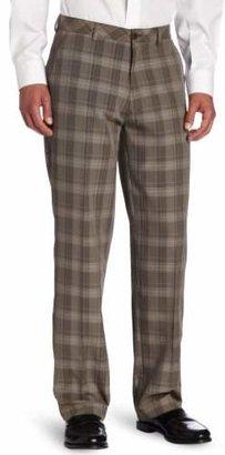 Haggar Men's C18 Broken Glen Plaid Straight Fit Flat Front Pant