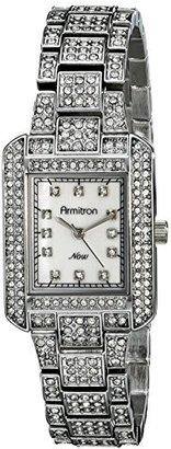 Armitron Women's 75/5251MPSV Swarovski Crystal-Accented Silver-Tone Rectangular Watch $110 thestylecure.com