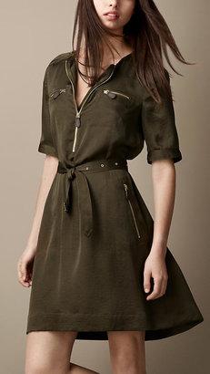 Burberry Zip Detail Utility Dress