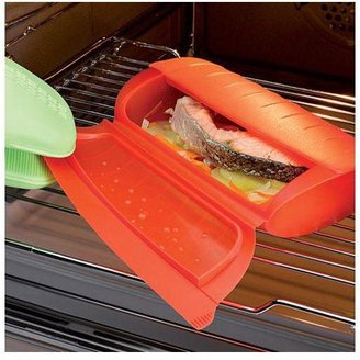 Lekue 47-oz. Steam Case with Draining Tray, Red