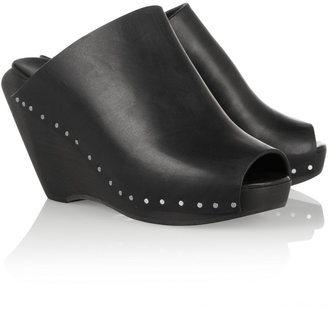 Rick Owens Leather mules