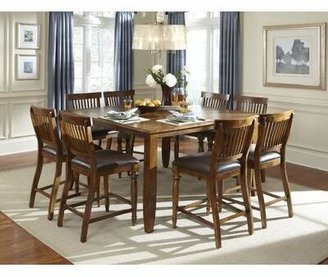 American Heritage Delphina 9 Piece Counter Height Extendable Solid Wood Dining Set