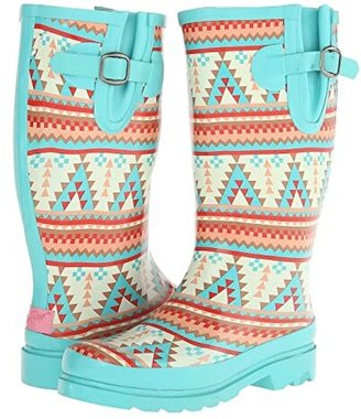 Dakota M&F Western Turquoise/Cream) Women's Rain Boots