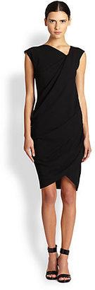 Helmut Lang Asymmetrical Draped Dress