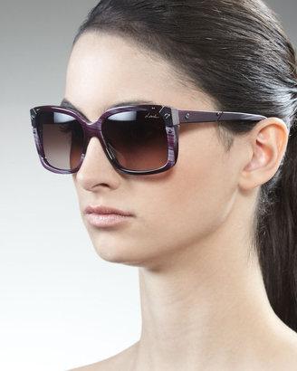 Lanvin Square Horn Sunglasses