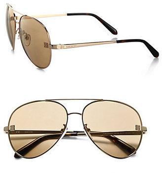 Givenchy Metal Flash Lens Aviator Sunglasses