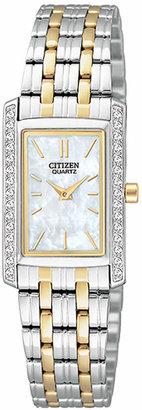 Citizen Women's Two Tone Stainless Steel Bracelet Watch 19mm EK1124-54D