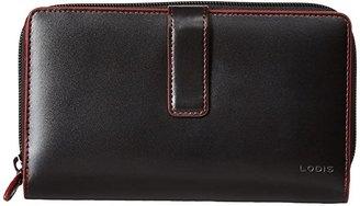 Lodis Audrey RFID Deluxe Checkbook Clutch (Black RFID) Checkbook Wallet