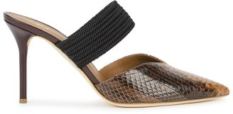 Malone Souliers Maisie 85 Python Mules