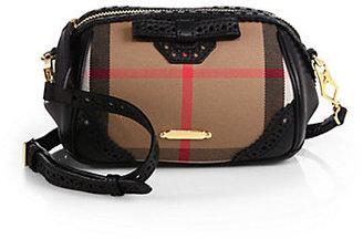Burberry Blaze Haymarket Mixed-Media Crossbody Bag