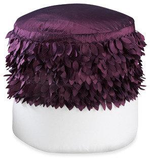 Bed Bath & Beyond Swimcap Purple Footstool Cover