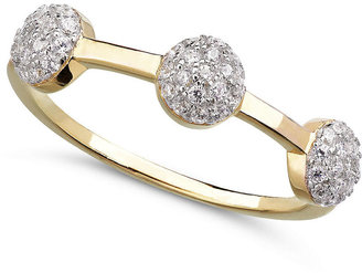 Crislu Ring, 18k Gold over Sterling Silver Cubic Zirconia Ring (1/4 ct. t.w.)