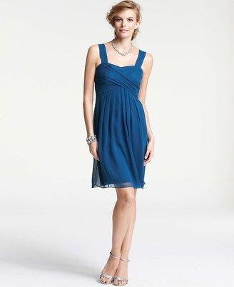 Ann Taylor Silk Georgette Crossover Sleeveless Bridesmaid Dress
