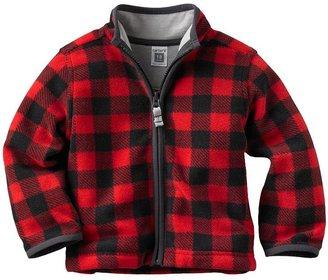Carter's checkered microfleece jacket - baby