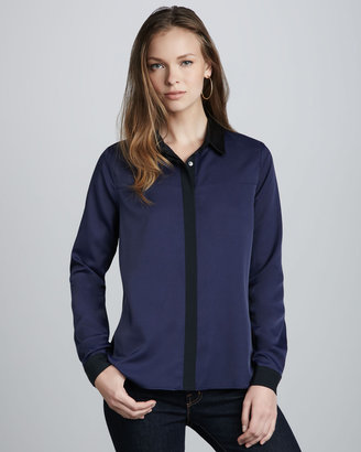 Patterson J. Kincaid Farrow Contrast Blouse