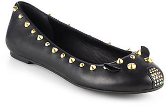 Marc by Marc Jacobs Studded Leather Mouse Ballet Flats